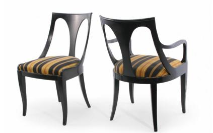 SIX REGENCY STYLE DINING CHAIRS