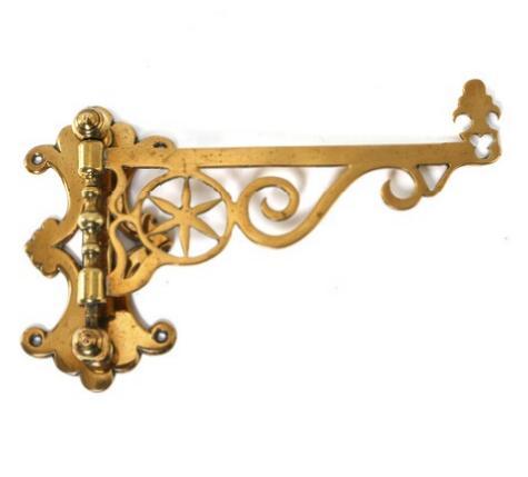A circa 1800 brass pot rack. Friesland