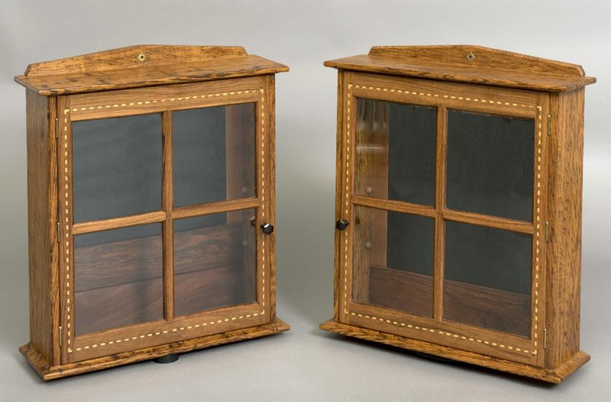 COTSWOLD SCHOOL, PAIR OF DISPLAY CABINETS