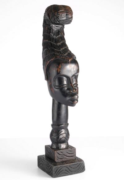 AFRICAN CARVED HEAD SCULPTURE