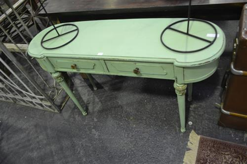 Oval Two Drawer Side Table