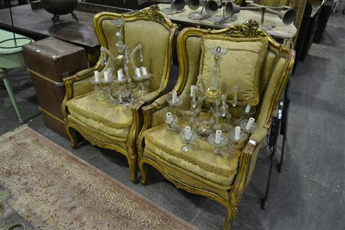 Pair of Ornately Carved Armchairs