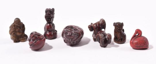 FOUR CHINESE JADEITE CARVINGS