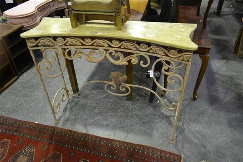 Marble Top Hall Stand over Iron Base