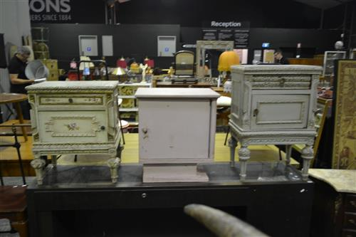 Matched Pair Of French Style Bedsides Together With Another