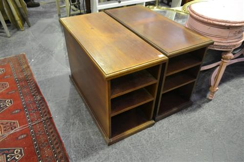 Pair of Timber Low Lying Shelves