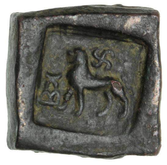 India, Taxila, 1½ Karshapana, c. 185-160 BC, 13.44 g, Mitch. 4402