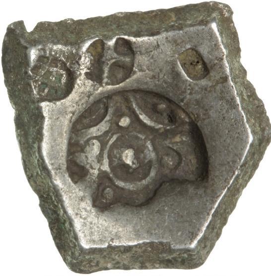 India, Shakya Japanada, 5 Shana, c. 600-500 BC, 5.41 g, Rajgor series 33 var