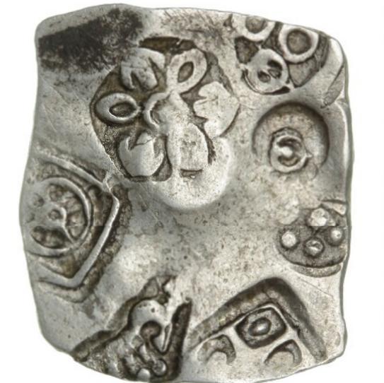 Indien, Magadha Janapada, Karshapana, c. 500 - 430 BC, 3,21 g, G-H 48