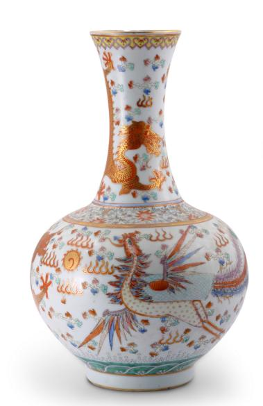 PORCELAIN VASE WITH SIX CHARACTER GUANGXU MARK