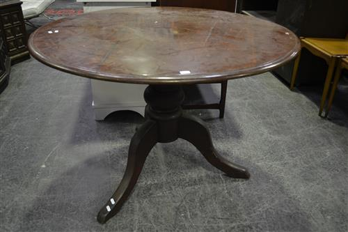 Circular Tiltop Table over Tripod Base