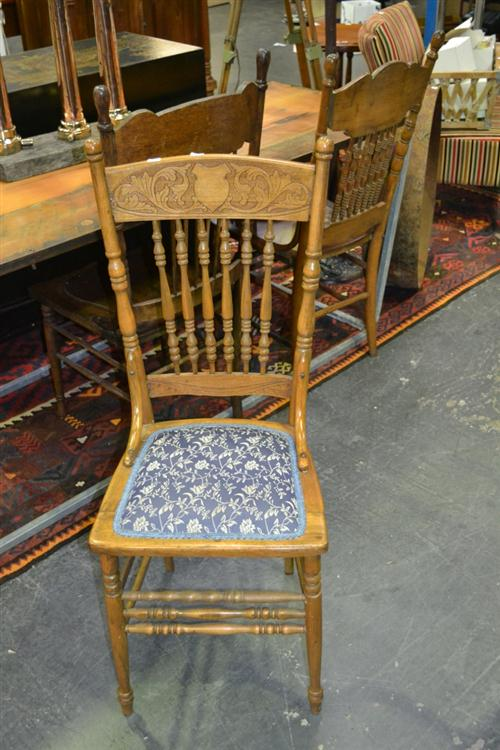 3 American Spindle Back Chairs