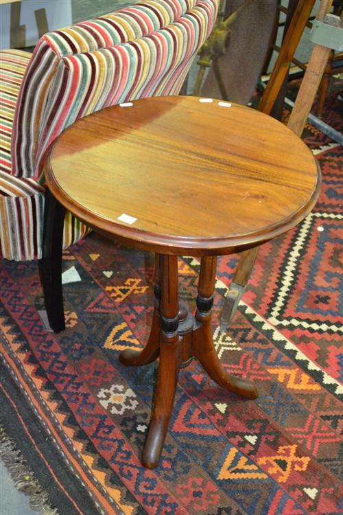 Timber Wine Table on Tripod Base