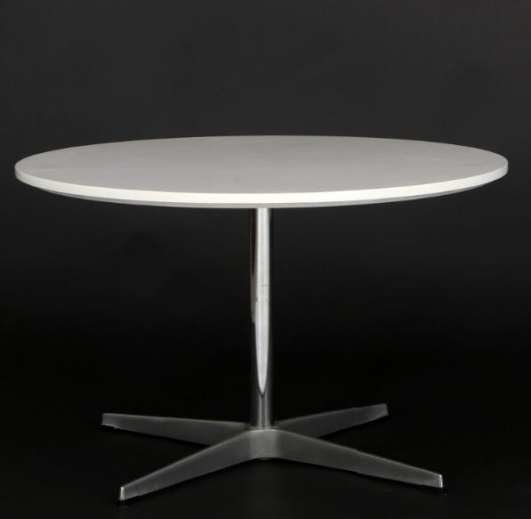 Circular coffee table with base of aluminium