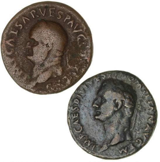 Vespasian, 69-79, As, Rome mint 74, 9.57 g, RIC 557b, C2