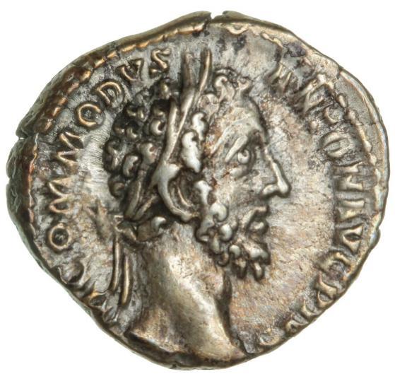 Roman Empire, Commodus, 181 - 192, Denarius, 3.08 g, RIC 81 - Rare