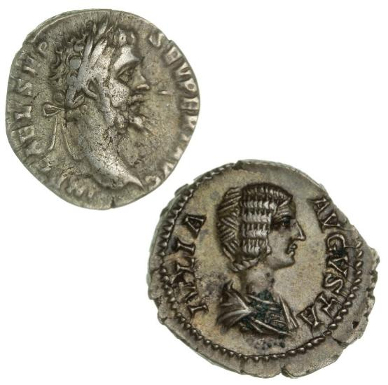 Roman Empire, 2 Denarii, Septimius Severus, 193-211, LEG XIIII GEM M V