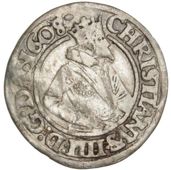 Christian IV, 8 skilling 1608, H 96