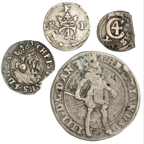 Christian IV, 6 skilling 1629, H 140B, 8 skilling 1623
