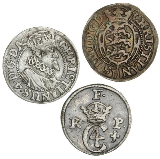 Christian IV, 6 skilling 1628, H 139B, 6 skilling 1629, H 140B