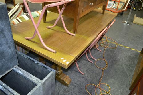 Elm Baluster Legs Dining Table