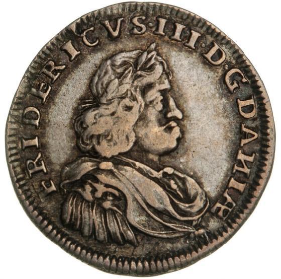 Frederik III, mark 1666, H 111, S 107, Aagaard 156