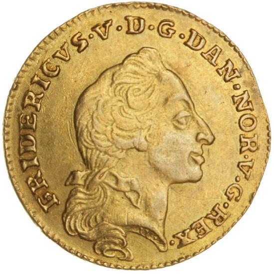 Frederik V, kurantdukat / 12 mark 1761 W/W, H 22D, F 269