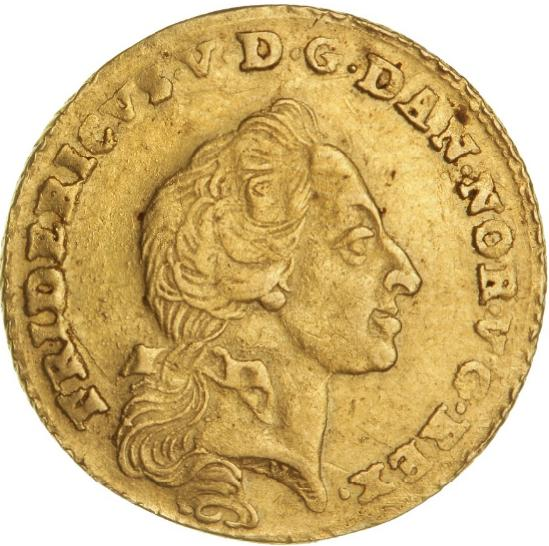 Frederik V, kurantdukat / 12 mark 1761 W/K, H 22E, F 269