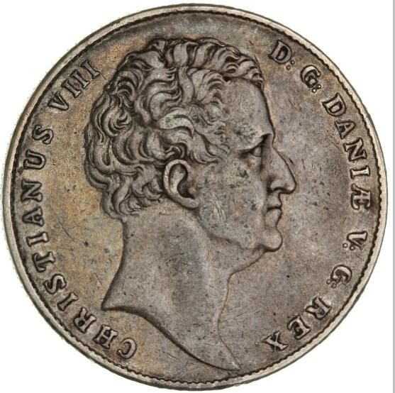 Christian VIII, speciedaler 1840, H 3B