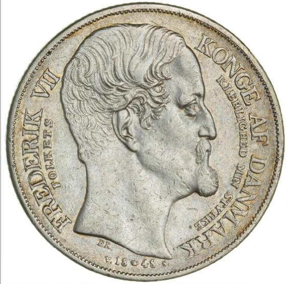 Frederik VII, speciedaler 1848, H 3 - accession