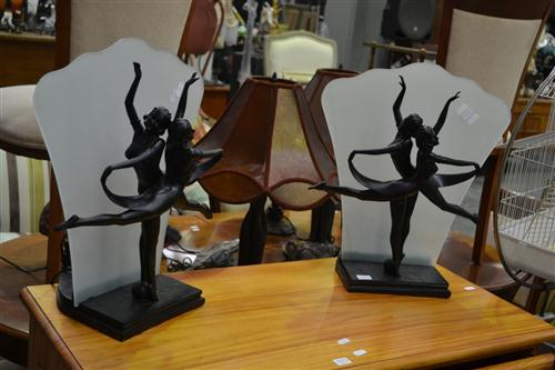 2 Pairs of Figural Table Lamps (4)