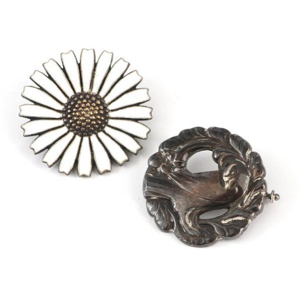 A silver brooch. Design no. 134