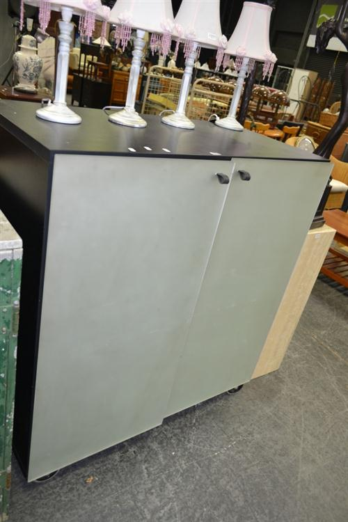Bulo Glass Front Credenza, ex Space Furniture