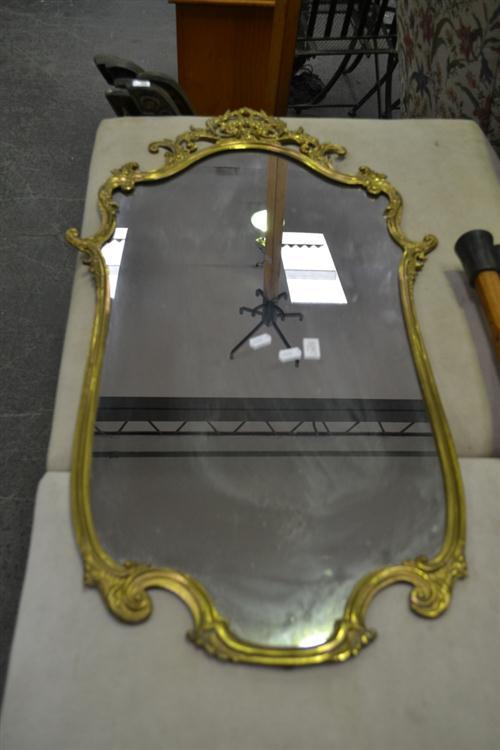 Shield Shaped Gilt Framed Mirror
