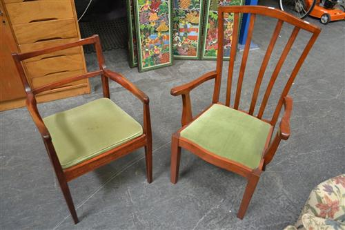 Pair Of Carver Chairs & Two Others