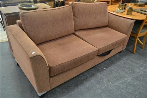 Brown Tone Two Seater Sofa Bed
