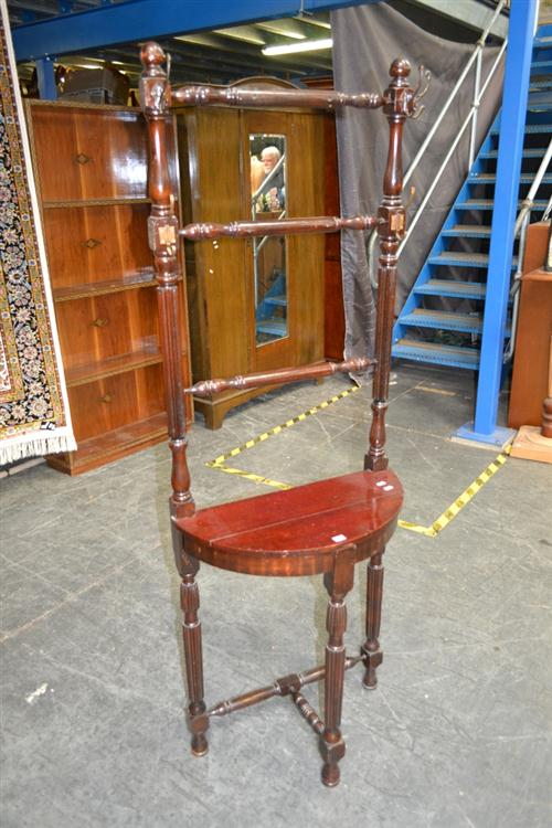 Timber Hallstand On Fluted Legs