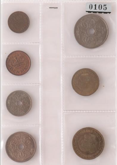 25, 50 øre, 1, 2, 5, 10, 20 kr 1984 patterns, GP 9 - 15, complete set of 7 pcs, ex. N&T 590, lot 105
