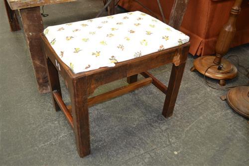 Lidded Laundry Hamper & Upholstered Top Stool