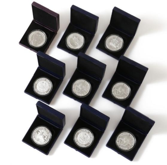 500 kr 2008 - Dannebrog, (3), 500 kr 2010 - Queen Margrethe II 70 Years, Polar coins