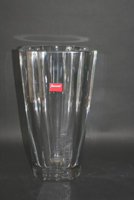 LARGE BACCARAT GLASS VASE