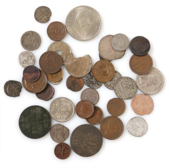 Collection of mainly Danish coins from Erik of Pommerania to Frederik IX