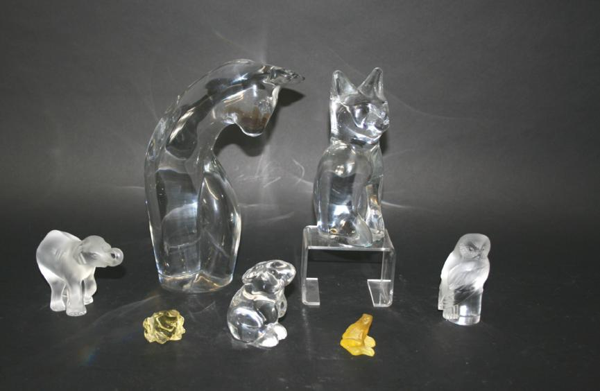 DAUM GLASS CAT