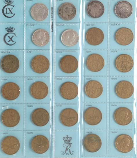 Collection decimal coins in two albums, 1874- , many better dates