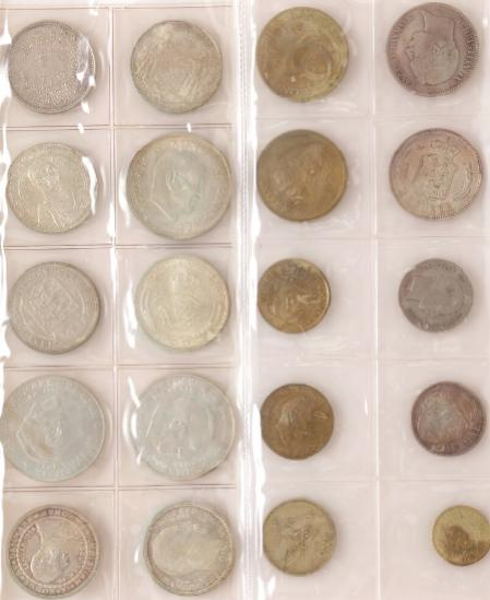 Coll. coins incl. 10 pcs comm. 1892-1972