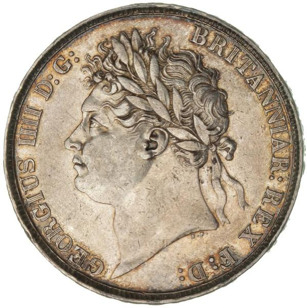 England, George IV, Crown 1822, S. 3805