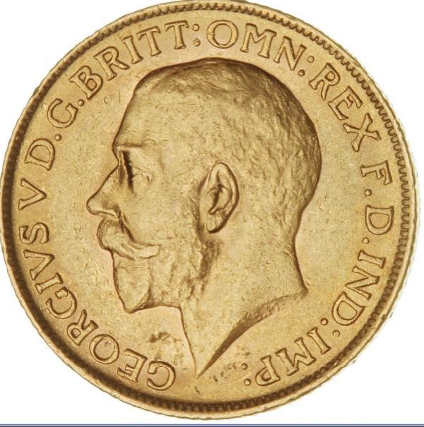 England, George V, 1910 - 1936, Sovereign 1911, F 404, edge nicks