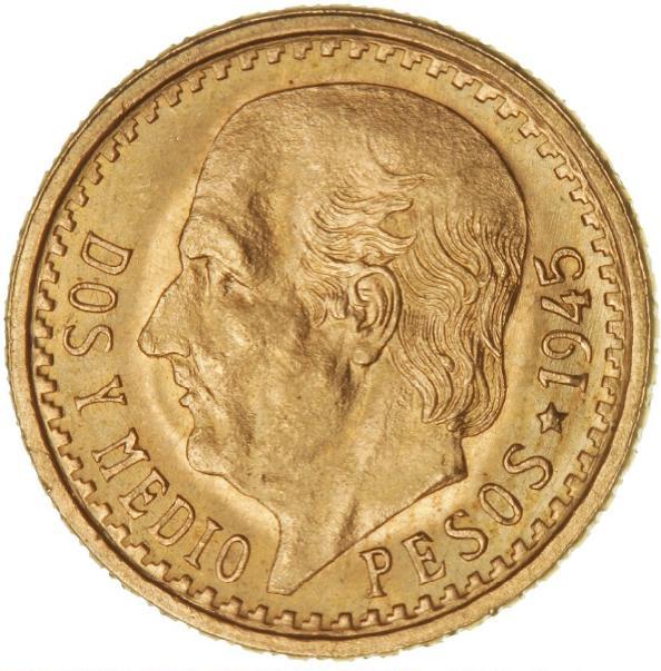 Mexico, 2 1/2 Pesos 1945, KM 463