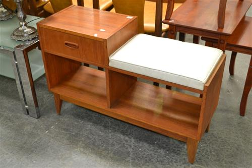 Telephone Table on Tapering Legs