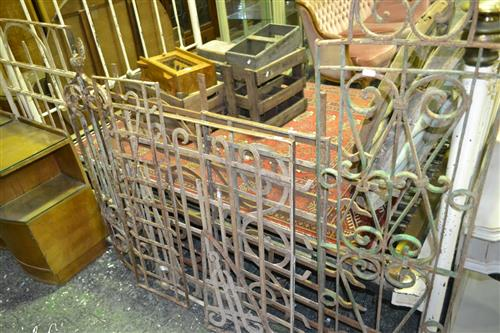 Collection of Iron Window Panels